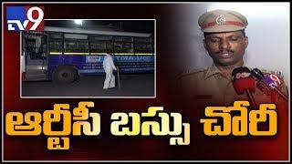 RTC bus stolen from CBS in Hyderabad - TV9