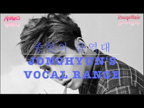 Jonghyun's Vocal Range 종현의 음역대 (G2 ~ C#6) [0옥타브 솔 ~ 4옥타브 도#]