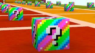 Minecraft 1v1v1 RAINBOW LUCKY BLOCK RACE! (Minecraft Mods) w/PrestonPlayz & The Pack