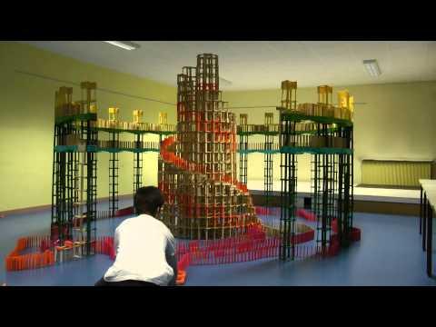 HTK#21: Citiblocs construction with huge snail inside circular bridge with dominos