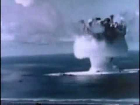 Atomic bomb test under water - YouTube