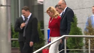 World Cup: Croatian President leaves hotel for stadium for final