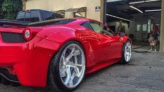 Twin Turbo Liberty Walk Ferrari 458 Debut