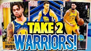 THE NEW LOOK WARRIORS ARE BEASTLY!!! D'ANGELO RUSSELL, STEPH CURRY, AND KLAY THOMPSON!!! NBA 2K19