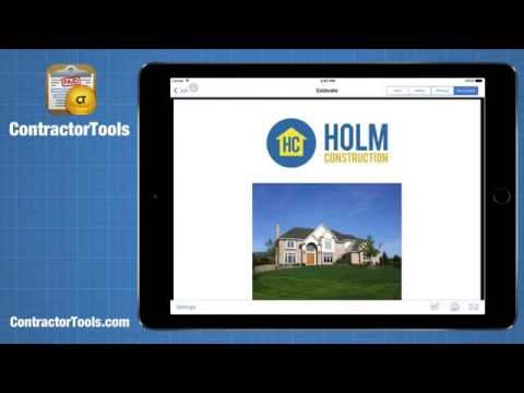 ContractorTools App - Estimating and Invoicing on the iPhone and iPad