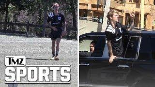 Justin Bieber Plays in Soccer Match in L.A.