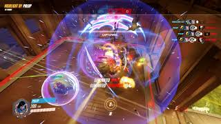 Overwatch - POTG - Pharah Ults for a 6 player kill Highlight