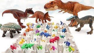30 Dinosaurs Eggs Is Hatching   Jurassic World2 Fallen Kingdom Dinosaur With Dino Eggs | Dino Mecard