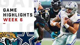 Jaguars vs. Cowboys Week 6 Highlights | NFL 2018
