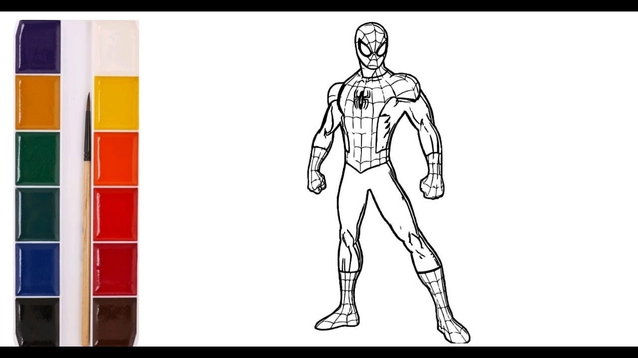 раскраски человек паук 3d