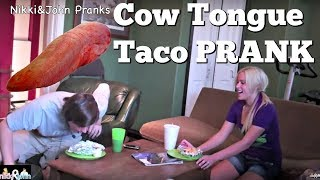Cow Tongue Taco Prank