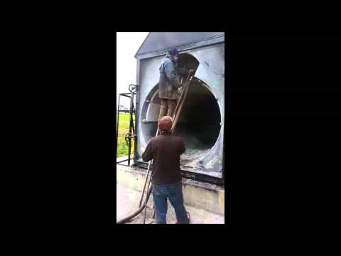 Biomass Straw Bale Boiler Cleaning