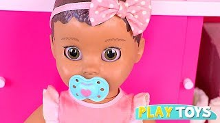 Play with Cute Baby Doll Luvabella! 🎀 Feeding, Dress up and Stoller Toys for Girls!
