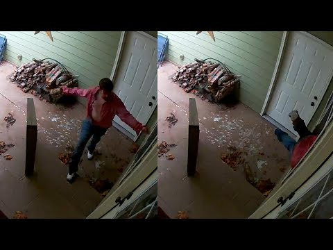 Intruder breaks into home forcing mother, toddler to hide in bathroom, CCTV footage