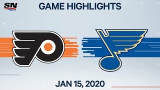 NHL Highlights | Flyers vs Blues - Jan. 15, 2020