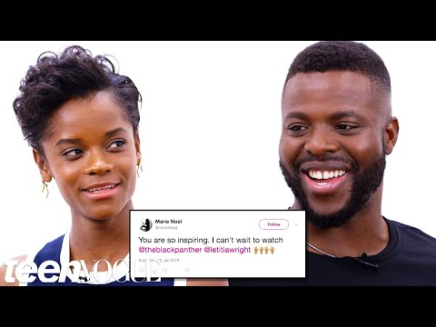 Black Panther Cast Competes in a Compliment Battle   Teen Vogue