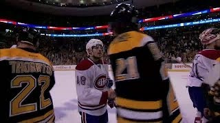 Briere mic'd up during handshake line