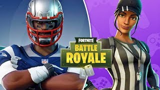 BRAND NEW FORNITE NFL SKINS! PRO FORTNITE BATTLE ROYALE GAMEPLAY