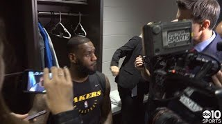 LeBron James on his Lakers win over Kings in Sacramento