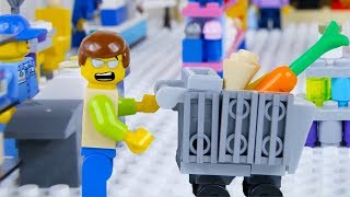 LEGO City Shopping Fail STOP MOTION LEGO City with Ellie Sparkles | LEGO City | By Billy Bricks