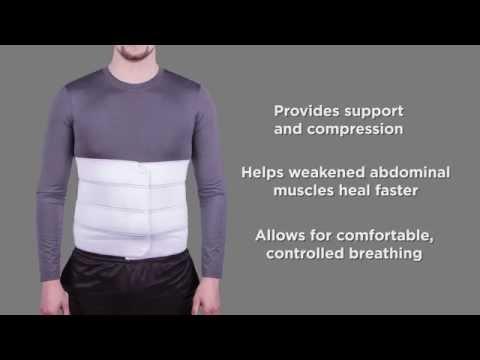 Bariatric Plus Size Abdominal Binder from BraceAbility