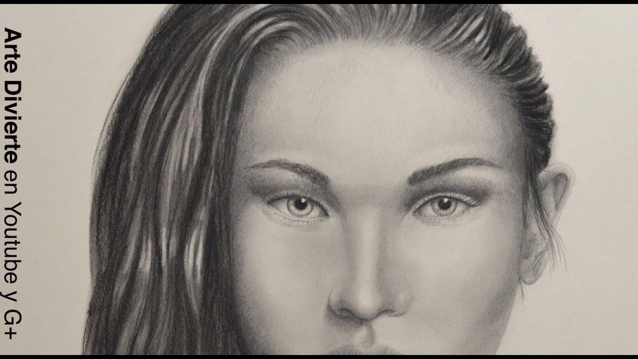 Cómo Dibujar Una Cara Realista Con Carboncillo Y Lápiz
