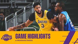 HIGHLIGHTS | Anthony Davis (18 pts, 9 reb, 6 ast) vs Milwaukee Bucks