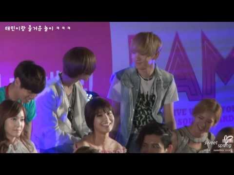 [fancam] 120430 SHINee Key joking with Taemin @ I AM Showcase