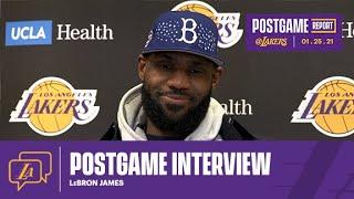 Lakers Postgame: LeBron James (1/25/21)