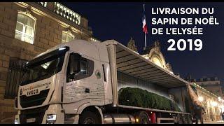 Le sapin de l'Elysée livré en camion GNV