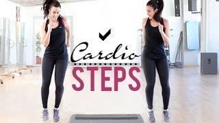 Ejercicios de cardio con steps   12 minutos