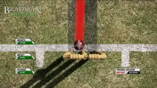 Don bradman cricket 17 wkts fall DRS Hotspot edge LBW