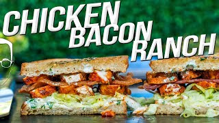 THE BEST SANDWICH I'VE EVER MADE - (SPICY!) CHICKEN BACON RANCH | SAM THE COOKING GUY 4K
