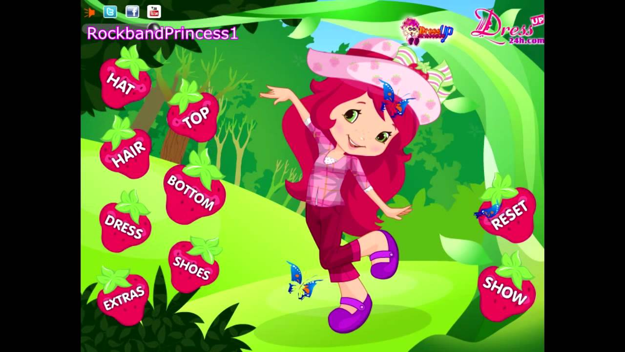 Strawberry Shortcake Games Dress Up Game - YouTube