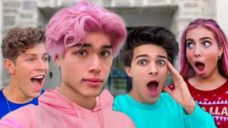 DYING MY HAIR PINK AND PRANKING MY FRIENDS!!