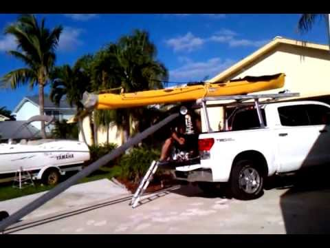 Hd Loading Tandem Island Onto A Truck Rack The Easier Way