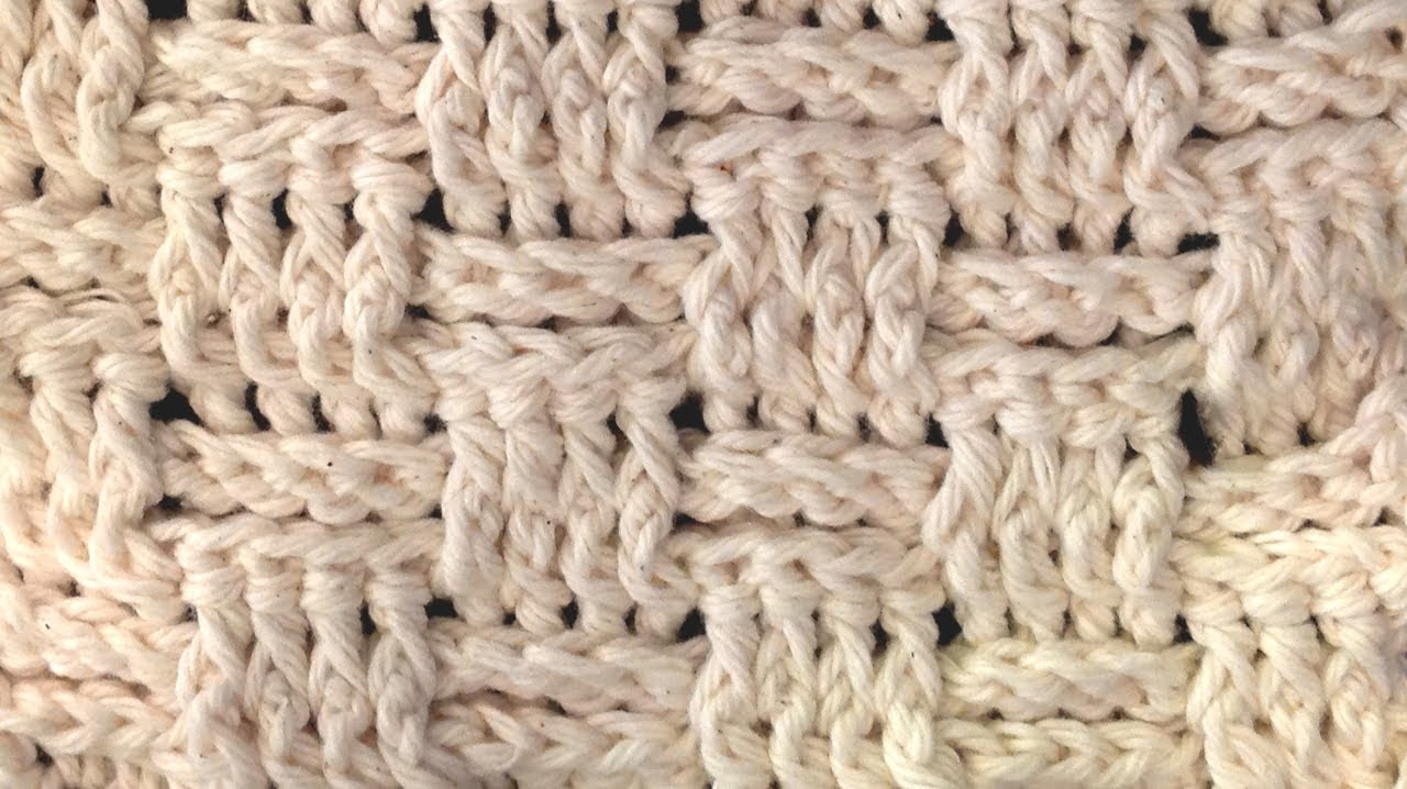 Basket Weave Stitch Crochet How To Youtube
