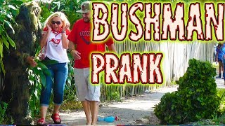 NEW!! 3 Bushman Gauntlet - FUNNY VIDEO! Bushman Scare Prank at Tampa Bay Buccaneers