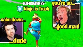 NINJA *LOSES IT* after STREAM SNIPER Does THIS! (Fortnite)
