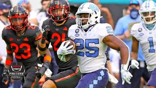 North Carolina rushes for over 550 yards in blowout win vs. Miami | 2020 College Football Highlights