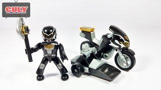 Lego Siêu nhân thiên sứ Đen chạy Moto Power Ranger MegaForce Black Megablock brick toys for kids