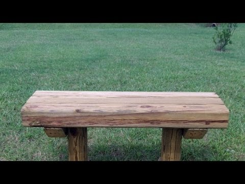 How To Build A Wooden Bench For 12 75 Youtube
