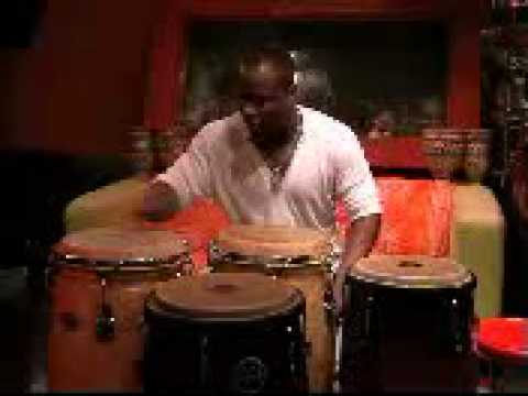 Jose Ritmo: Demonstration with bongos and 4 congas