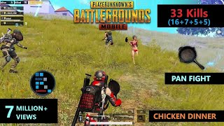 "[Hindi] PUBG MOBILE | ""33 KILLS"" Amazing End zone Fight & PAN Fight Chicken Dinner"