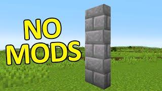 Vertical Slabs in Vanilla Minecraft
