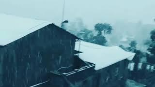 Amazing Snowfall at Banepa Bazzar Feb 28,2019