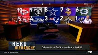 THE HERD   Colin unveils his Top 10 teams ahead of Week 12; 1. Ravens 2. Raiders 3. Patriots