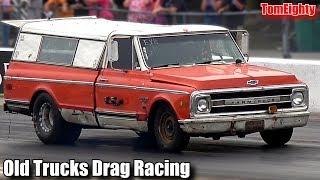 Old Trucks Drag Racing