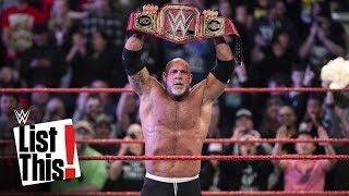 Every Goldberg championship win: WWE List This!