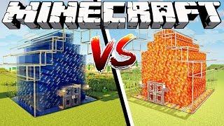 LAVA HOUSE VS WATER HOUSE - Minecraft